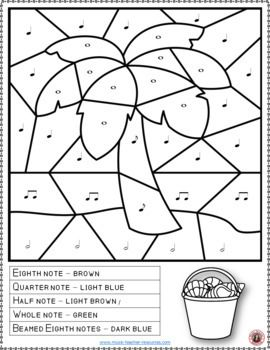 Music Coloring Pages 15 Beach Themed Music Coloring Sheets