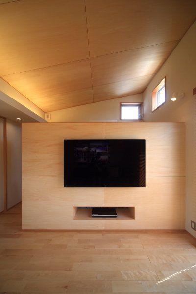 安カッコいい仕上げ材 シナベニヤ シナ合板 ハウスデザイン