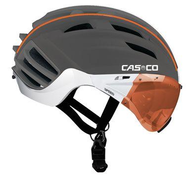 Casco Speedster Bike Helmet Grey With Orange Visor Bike Helmet