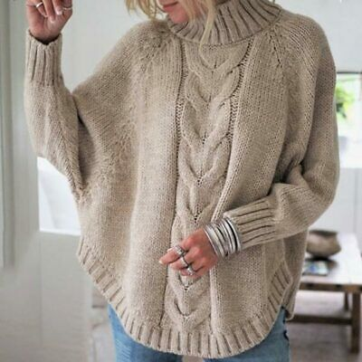 eBay Ad) Loose Women's Solid Knitted sweater Fashion Casual