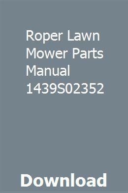 Roper garden tractor replacement parts