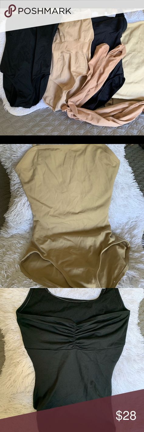 Dancer Bundle, leotards and tights Dancer Bundle, leotards, nude skins and tights 2 nude 2 black Small x small  Nude tights Capezio Other