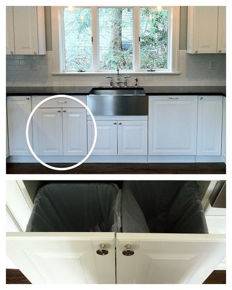 Haute Indoor Couture Ikea Hack. Ikea Kitchen Trash/Recycle Pull Out idea. Under…