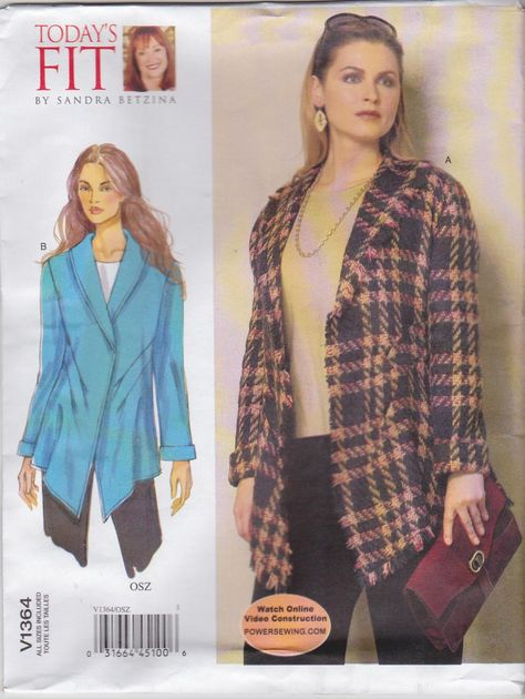 Vogue 1418 Misses Sandra Betzina Todays Fit Jackets Sewing Pattern Bust Sz 32-55