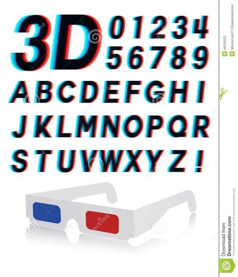 Glasses Font Stereoscopic 3d Effect - Download From Over 36 - küchenunterschränke mit schubladen