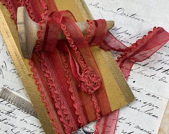 Antique Vintage Ribbons And Trims By Vintageribbons On Etsy In 2020 Vintage Ribbon Unique Items Products Sewing Ribbon