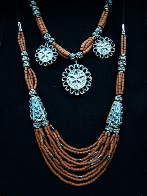 Korali, Ukraine, from Iryna with love Clay beads with ceramic focal beads with design imprinted into the clay