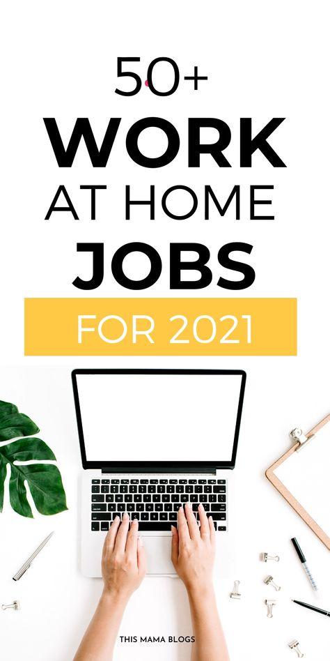 50+ Best Work-from-Home Jobs Hiring Immediately