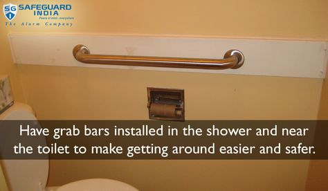 Install Grab Bars Near Shower And Toilet To Make Getting Around