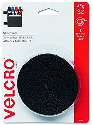 "Black 18 X 3//4/"" Strip Black 18/"" VELCRO Brand Strips"