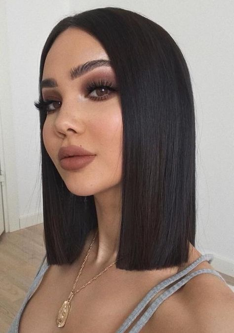 Black Bob Hairstyles, Straight Hairstyles, Wig Hairstyles, Egyptian Hairstyles, Bob Lace Front Wigs, Front Lace, Grunge Hair, Shoulder Length Hair, Hair Looks