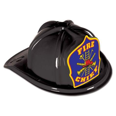 Black Fire Chief Hat
