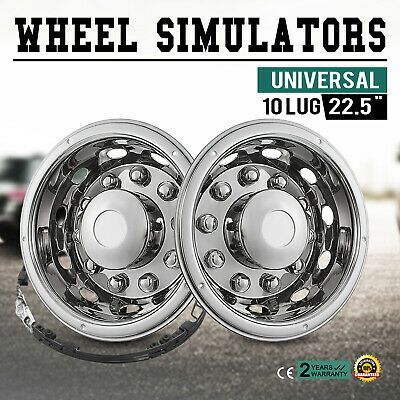 Ad Ebay 22 5 Wheel Simulators Hubcaps 10 Lug Universal Set 4 Pilot Liners Rim Truck In 2020 5th Wheels Wheel Truck Wheels