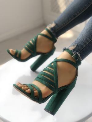 Strappy Open Toe Stiletto Sandals in