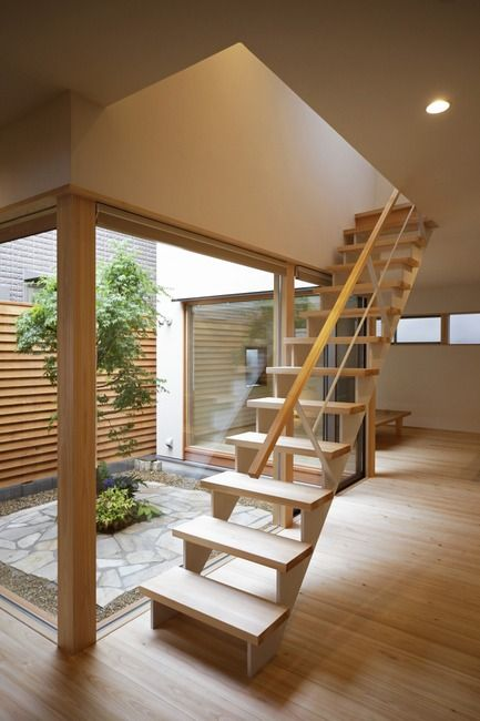 中庭のある家 実例紹介 無垢の木と自然素材で建てる家 木の家工房