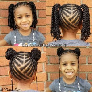 Natural Hairstyles For Black Girls Lil Girl Hairstyles Hair Styles Toddler Braided Hairstyles
