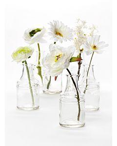 White Wedding Bud Vase Centerpiece Bottle Vase Centerpiece Bud Vases Vase