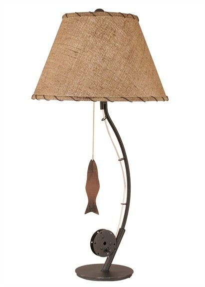 A Great Fit For A Fishing Themed Bedroom The Fly Fishing Pole Table Lamp Will Look Wonderful In A Little Boy S R Fishing Themed Bedroom Fishing Room Fish Lamp