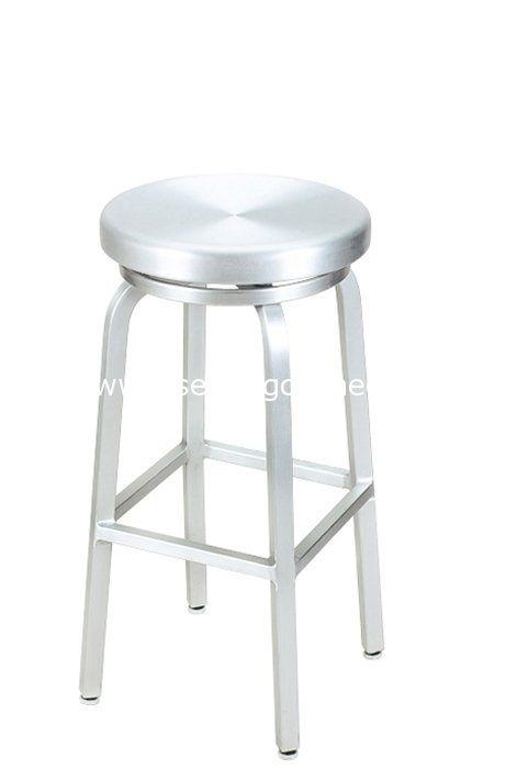 G A Seating 891 Aluminum Classic Swivel Backless Bar Stools Backless Bar Stools Aluminum Bar Stools Bar Stools
