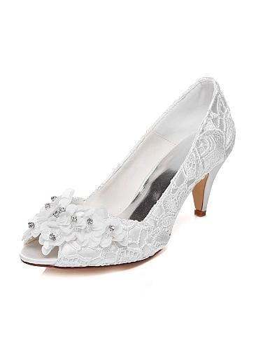 Creativesugar open toe lace bridal wedding shoes  5e28cb8c9e12