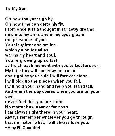for my son poem - Google Search | Father's Day Sons quotes