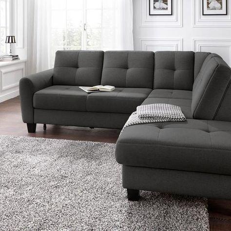 Sit More Ecksofa Mit Bettfunktion Grau Stoff In 2020 Mit Bildern Couch Mit Schlaffunktion Sofa Mit Schlaffunktion Ecksofa Grau