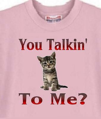 Ad Ebay Cat T Shirt You Talkin To Me Adopt Rescue A Dog