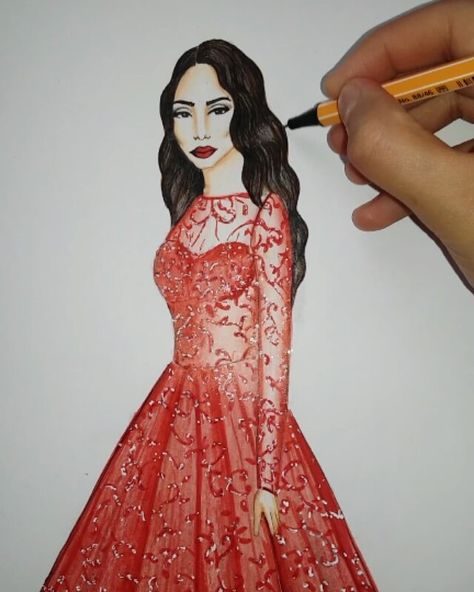 fashion @di1ara by @teslimemoda #draw...