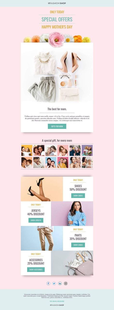 Mother's Day - Email Template
