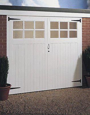 Jeldwen Side Hung Timber Garage Door Pair Glazed 2134mm X 1981mm 7 X6 6 Garage Doors Wooden Garage Doors Side Hinged Garage Doors