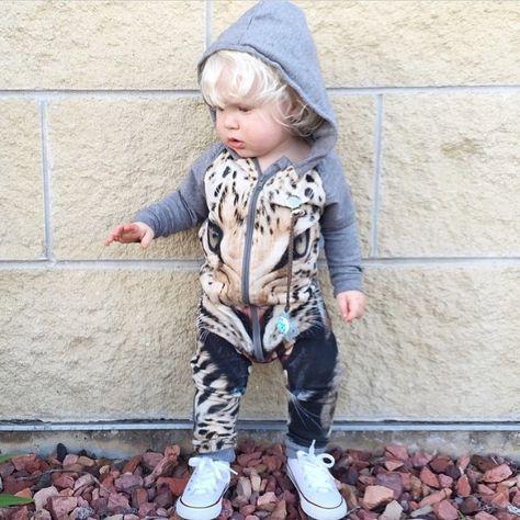 SOPO Baby Boys Girl Tiger Hoodie Vest Winter Jacket Outwear Waistcoat 2-4Y Brown