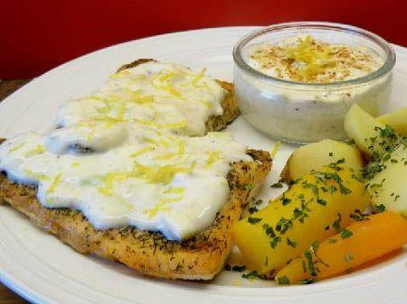 Fish In Sour Cream Sauce Recipe Sour Cream Sauce Cream Sauce Recipes Recipes