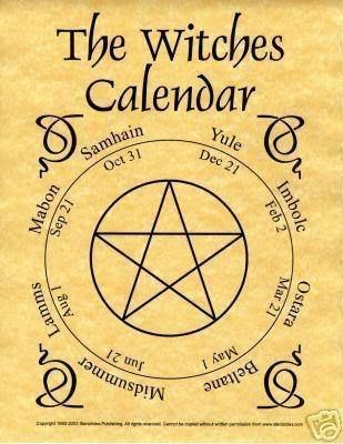There Are Eight Wiccan Sabbats Total; Four Major & Four Minor Minor. These Sabbats Together Comprise the Wiccan Wheel of the Year. Wiccan Holidays Follow the Cycle of the Seasons & Celebrate the Phase that Mother Earth is Going Through. We Also Celebrate the Phases of the Moon with Gatherings Called Esbats. The Full Moon is a Time to Honor the Goddess Energy at it's Peak... By Artist Unknown...