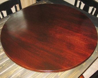 Large Wood Lazy Susan For Dining Table From 18 Inch Up To Etsy Wooden Garden Table Mahogany Wood Lazy Susan