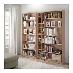 Billy Gnedby Bookcase White Stained Oak Veneer 200x28x202 Cm Ikea Bookcase Ikea White Bookcase