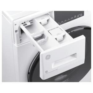 Ge 2 4 Cu Ft White High Efficiency 120 Volt Ventless Electric All In One Washer Dryer Combo Gfq14essnww The Home Depot In 2020 Washer Dryer Combo Electric Dryers Washer And Dryer