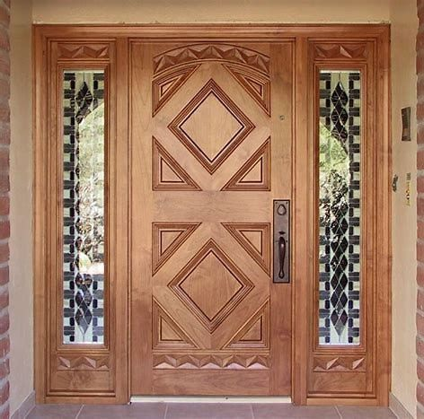 Entry Doors Are Made From Timber Steel Or Fiberglass As Well As In Come Instances A Mix Of These M House Front Door Design Home Door Design Main Door Design