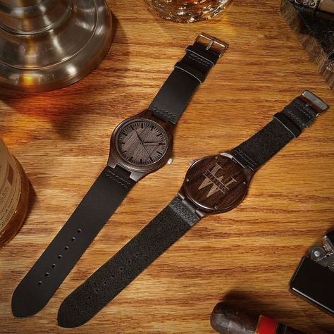 Check out this handsome wooden watch! #woodenwatch #watch #watchesformen #personalizedwatches #personalizedwatch #watchesforgroomsmen #giftsformen #giftsetsformen #giftsformenideas #giftideasformen #giftsforguys #giftsforhim #boyfriendgifts #husbandgifts
