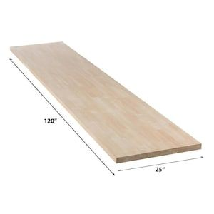 Sparrow Peak Rubberwood 10 Ft Unfinished Natural Straight Butcher