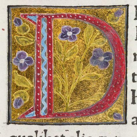 """Decorated initial """"D"""" in Scriptores historiae Augustae"""