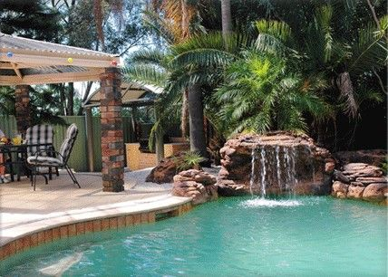 Luxury Swimming Pools With Waterfalls 17 best images about pools on pinterest | pool waterfall, swimming