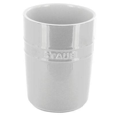 Staub Utensil Crock Color White Ceramic Utensil Holder Utensil