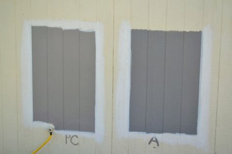 Pewter Cast by Sherwin Williams (SW 7673) vs. Anonymous by Behr (780F-5)