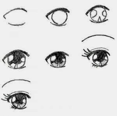 Drawing Step By Step Eyes How To Paint 60 Ideas How To Draw Anime Eyes Eye Drawing Eye Drawing Tutorials