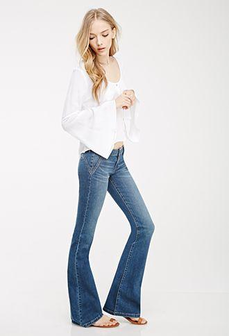 FOREVER21 News: jeans oxford de tiro bajo. Todo vuelve, y cada vez más rápido. #f21denim