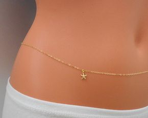 Minimalist Belly Chain| Gold Belly Chain Gold Beach Bikini Chain Simple Belly Chain Body Chain Waist Chain |Belly Chain