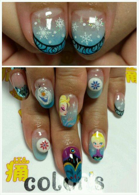 アナと雪の女王(Frozen) : Character nail art