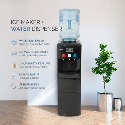 Details About 2in1 Electric Water Dispenser Hot Cold Ice Maker