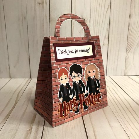 Harry Potter INSPIRED favor bags, Harry Potter loop bags, Harry potter birthday