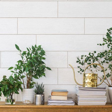 Textured Shiplap Planks White Washed Peel And Stick Removable Wallpaper Walmart Com Peel And Stick Wallpaper Peelable Wallpaper Wallpaper Roll